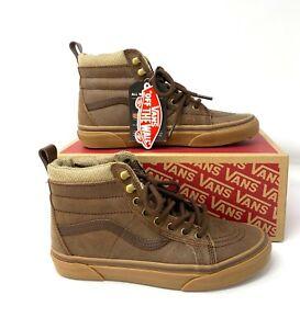 VANS  Sk8-Hi Mte Leather Brown Women's Sneakers High Top Boots VN0A33TXRJ2