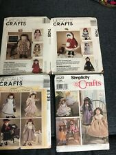 """New McCall, Simplicity Sewing Patterns For 18"""" Doll Clothes Uncut choice of 4"""