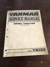 YM186, YM186D  YANMAR   Service Manual. Shop.  Diesel