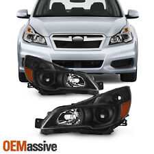 For 2010-2014 Subaru Legacy / Outback Projector Black Headlights Pair Left+Right (Fits: Subaru)