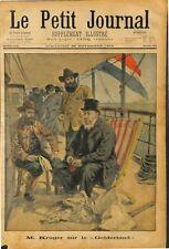 President Paul Kruger of boers trip on the Gelderland ocean liner to Europe 1900