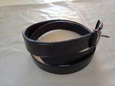 Men's Genuine Snake Skin Exotic Belt Black