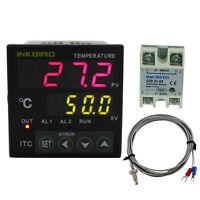 PID Digital temperature control controller + 25A SSR +K type Thermostats brewing