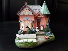 """Lilac Cottage"" House Figurine Hawthorne Limited Ed #3677a 5 1/4 × 3 3/4 × 3 1/2"