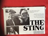M6-9a ephemera 1970s film  preview article the sting paul newman redford robert