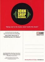JOHN SHOP RECORDS UNUSED ADVERTISING COLOUR POSTCARD