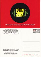 JOHN SHOP RECORDS UNUSED ADVERTISING COLOUR POSTCARD (c)