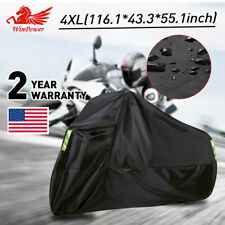 4XL Black Motorcycle Cover waterproof For Winter Outside Storage Rain Wind Snow