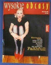 MARIANNE FAITHFULL  mag.FRONT cover No 12/2002  Poland