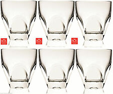 RCR Diamante Crystal Whisky Glasses Set of 6 (33cl) Crystal Whisky Wine Glasses