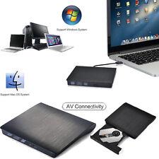 EXTERNA Fino USB 3.0 DVD±RW DVD-ROM CD-RW DVD-RW LEER Quemador Escritor Drive