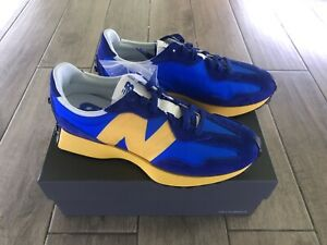 New Balance 327 Blue Yellow - UK Size 10 - MS327CLB - Deadstock & In Hand