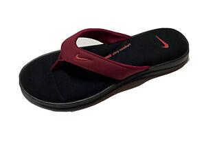 Nike Women's Ultra Comfort Flip Flops Size 7 Black/ Red AR4498-00