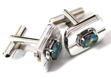 Men's Natural Opal Cufflink Good Gift For Father Boyfriend Free Jewellery Box