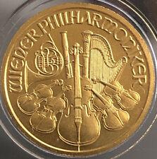 2002 Philharmonic 1/10 oz .9999 Fine Gold 24K ⭐️10 Euro - UNC Austria ⭐️🇦🇹🎻⭐️