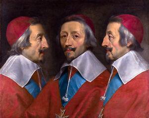 Philippe de Champaigne - Triple Portrait of Cardinal de Richelieu, Canvas Print