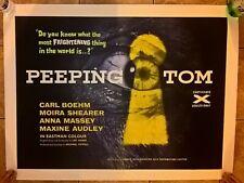 """PEEPING TOM -HORROR 1960  UK Quad -30"""" X 40 ON LINEN"""