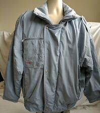 Men s Bogner ski jacket gray blue size 42 XL high end brand Made is USA snow ef590bf3c