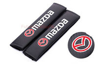 Car Auto Seat Safety Belt Pad Cover Shoulder Strap Cushion Logo For Mazda