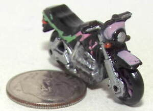 Small Micro Machine Plastic BMW K-100 Motorcycle in Black