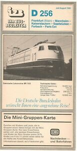 Ihr Zugbegleiter (IZB-DB) 256: Frankfurt - Paris, Juli/August 1980