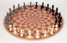 Three Player Chess Circular Hand Board Strategy Game Family Playing Set Gift