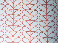 ~ 49cm x 20cm L Orla Kiely Linear Stem Persimmon Lightweight Cotton Fabric New