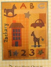 Baby Quilt Wallhanging Pattern 35x48 applique house car giraffe Abc numbers