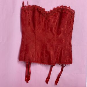 Frederick's of Hollywood DREAM CORSET Tapestry Red  size 38
