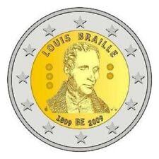 "BELGIE SPECIALE 2 EURO 2009 UNC  ""BRAILLE"""