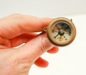 Vintage Brass Marble's Gladstone Compass Pin Michigan USA