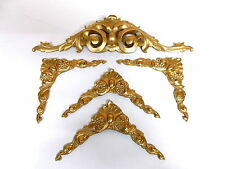 SET OF MIRROR FRAME OR PICTURE FRAME ORNATE CORNERS AND DOUBLE SCROLL MOULDINGS