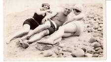 1920's Vintage Image young bathing beauties sexy swimsuits caps fashion beach #
