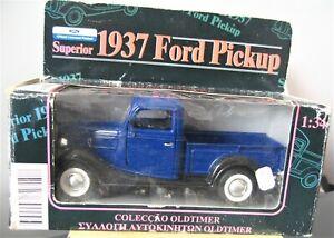 FORD PICKUP Bleu 1937 - 1/34°