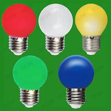 20x Assorted 5 Pack 0.5W Coloured E27 DEL Light Bulbs Golf Ball ES Festoon Lamps