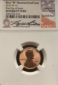 #1 First Reverse Proof Cent 2019 W 1C First Day Issue signed by Lyndall Bass