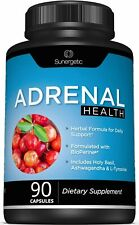 Sunergetic Adrenal Health Dietary Supplement - 90 Capsules - Exp 5/2021