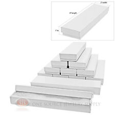 """12 Glossy White Cotton Filled Gift Boxes 8"""" X 2"""""""
