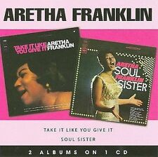 ARETHA FRANKLIN - Soul Sister/Take It Like You Give It (CD, SONY 2008) EXCELLENT