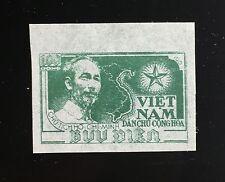 Viet Nam 1951-1955 #2 Ho Chi Minh and Map MNH Imperf  NGAI Rare