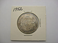 1952 Canada 50 cents silver coin