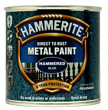 Hammerite Metal Paint Hammered 250ml Blue