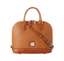 Dooney and Bourke Zip Zip leather satchel Caramel with tan Accents
