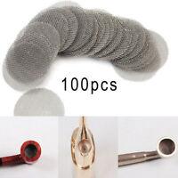 100pcs of 20mm Stainless Steel Tobacco Smoking Smoke Screen Pipe Metal Filters
