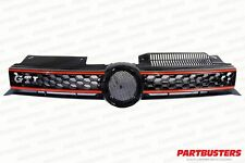 VW GOLF MK6 2009 - 2013 GTI LOOK FRONT GRILLE WITH RED TRIM NEW HIGH QUALITY