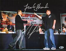Nick Diaz Frank Shamrock Signed 11x14 Photo BAS Beckett COA StrikeForce UFC 2009