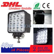 4x48W carré phare de travail LED Feux de jour remorque tracteur Camion Grue Lamp