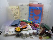 Junk Drawer Scrapbooking Large Lot of Gitter, Templates, Stencils Tags 100+