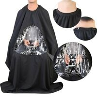 Salon Apron With Viewing Window Hairdresser Barber Hair Cutting Gown Cape Nice
