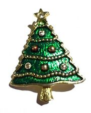 ATTRACTIVE CHRISTMAS TREE BROOCHES PIN XMAS BAUBLES SUIT TIE JACKET LAPEL